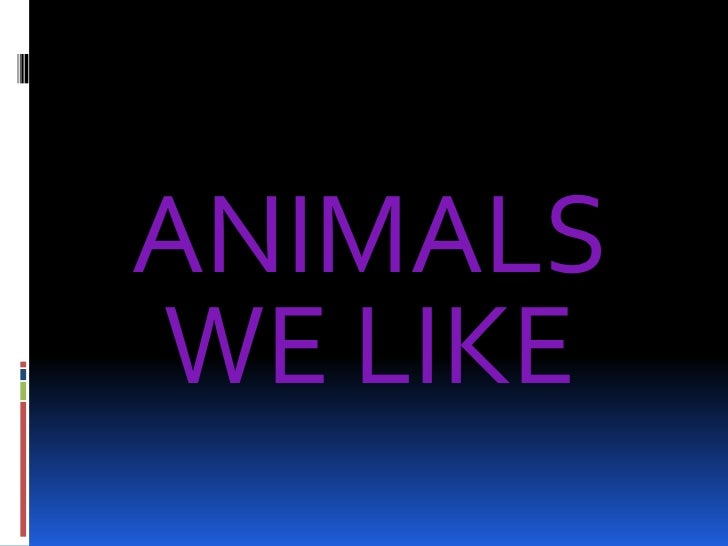 ANIMALS WE LIKE<br />ANIMALS WE LIKE<br />