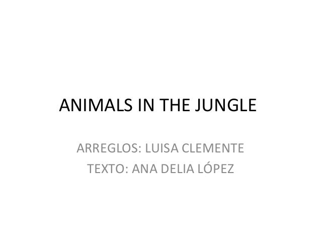ANIMALS IN THE JUNGLE ARREGLOS: LUISA CLEMENTE TEXTO: ANA DELIA LÓPEZ