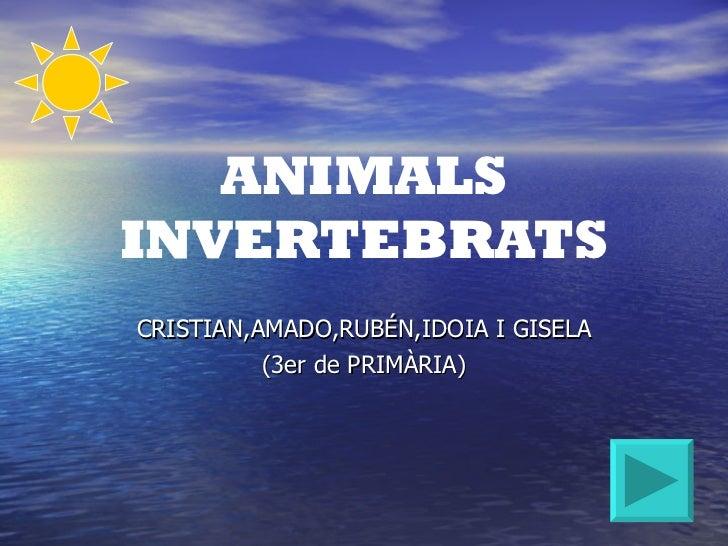 ANIMALSINVERTEBRATSCRISTIAN,AMADO,RUBÉN,IDOIA I GISELA          (3er de PRIMÀRIA)