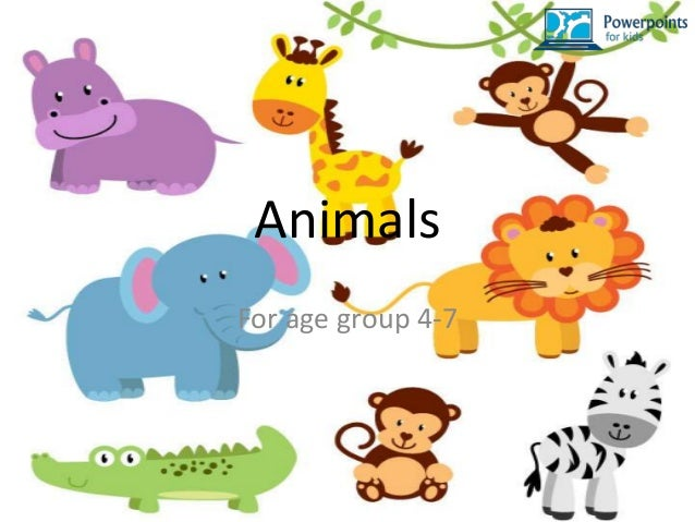 animals for age group 4 7