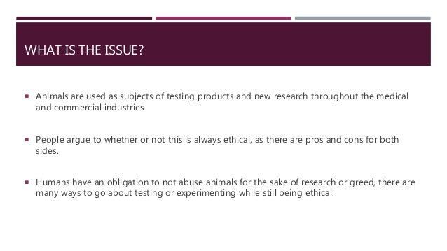 cons against animal experimentation
