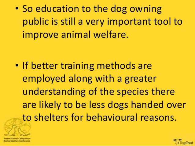 Dog Training And Welfare And Problematic Behaviours