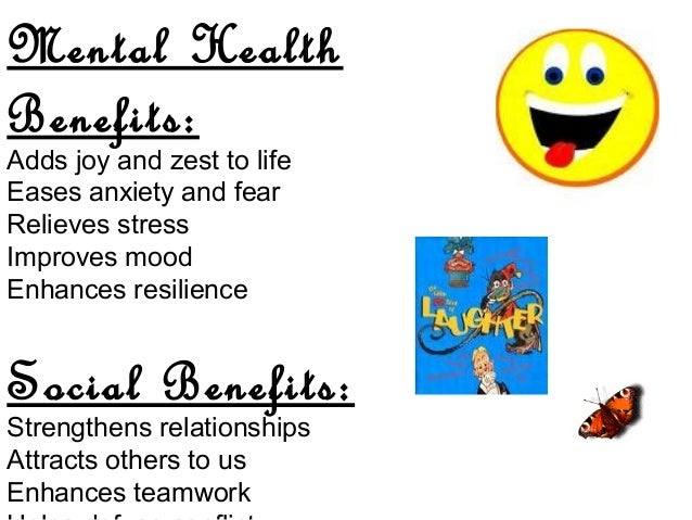 health benefits of humor Humor and health paul e mcghee or to obtain more information on the physical and mental health benefits of humor, see dr mcghee's book, health, healing and the amuse system.