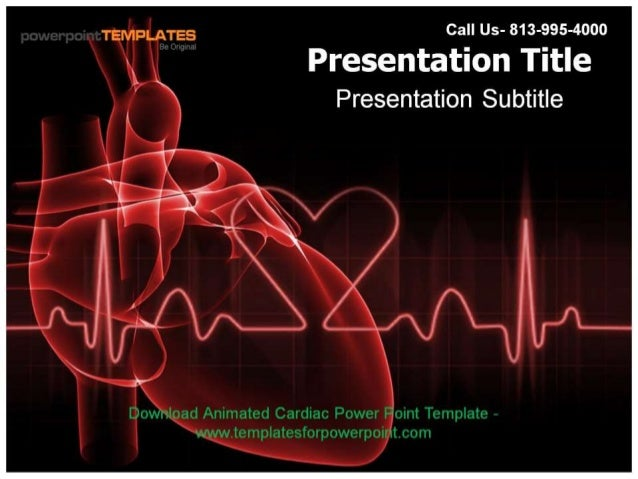 cardiovascular powerpoint template free - animated cardiac powerpoint template