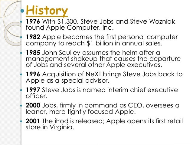 an analysis of the founders of the apple company