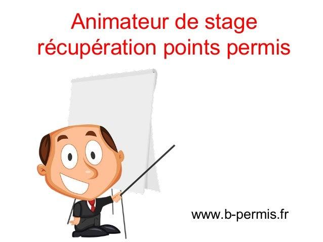 Animateur de stage récupération points permis www.b-permis.fr
