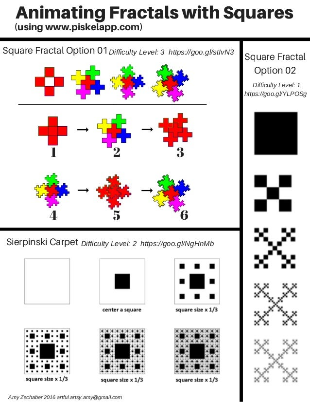 AnimatingFractalswithSquares Square Fractal Option 01 Sierpinski Carpet Square Fractal Option 02 DifficultyLevel:3http...