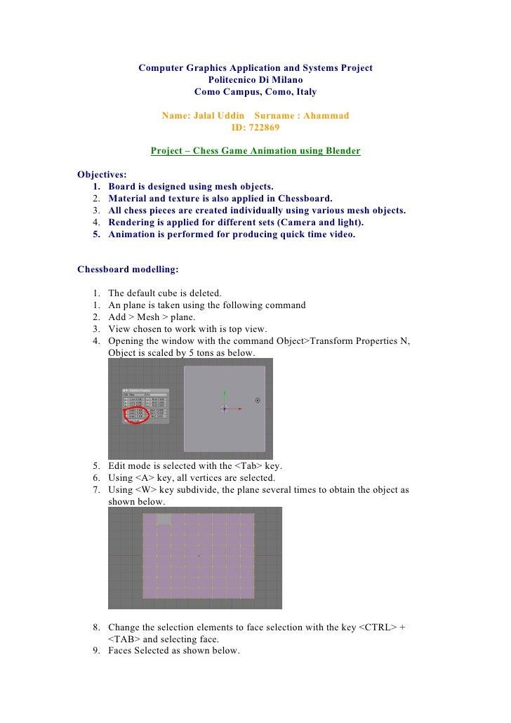 Computer Graphics Application and Systems Project                            Politecnico Di Milano                        ...