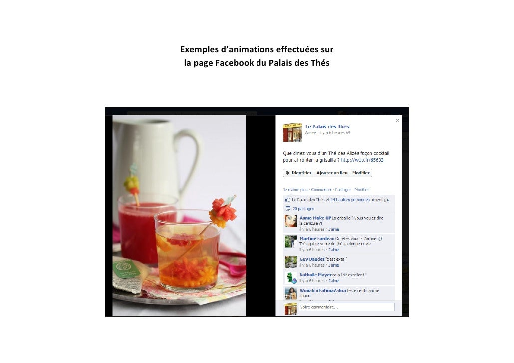 Exemplesd'animationseffectuéessur lapageFacebookduPalaisdesThés                                              ...