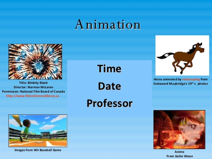 Animation Time Date Professor Title: Blinkity Blank Director: Norman McLaren Permission: National Film Board of Canada htt...