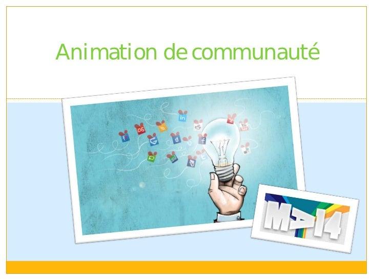 Animation de communauté