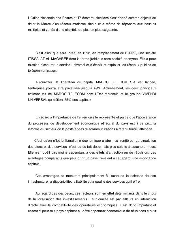 Animation Des Agences Commerciales De Maroc Telecom