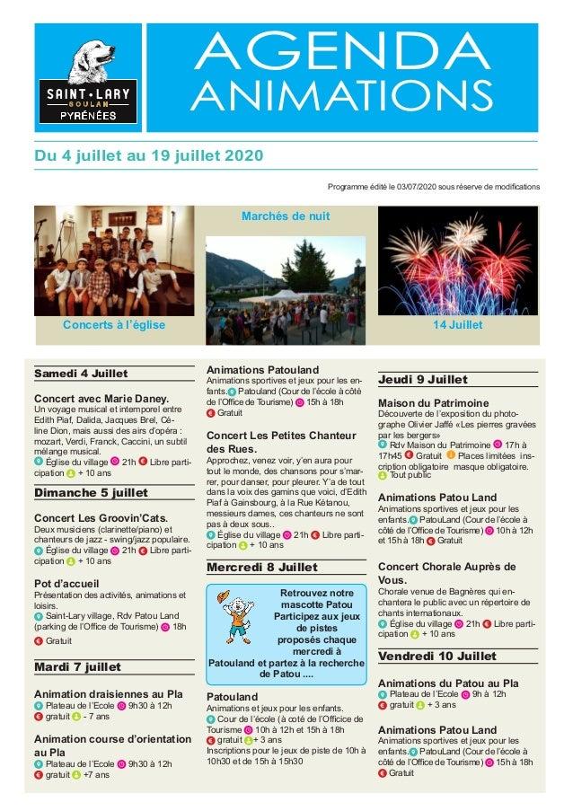 agenda animations Samedi 4 Juillet Concert avec Marie Daney. Un voyage musical et intemporel entre Edith Piaf, Dalida, Jac...