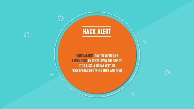 HACK ALERT CONTRACTING ONE ELEMENT AND EXPANDING ANOTHER OVER THE TOP OF IT IS ALSO A GREAT WAY TO TRANSFORM ONE THING INT...