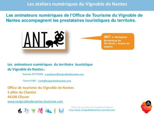 Animation numerique 2015 le vignoble de nantes les outils internet - Office de tourisme de clisson ...