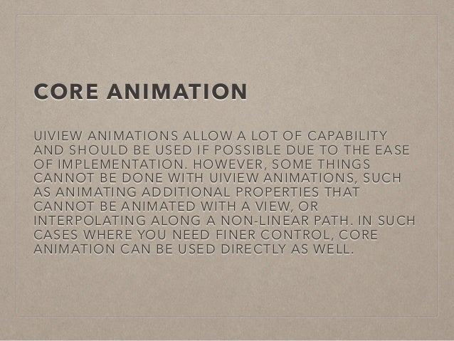 A short guide to animations in iOS