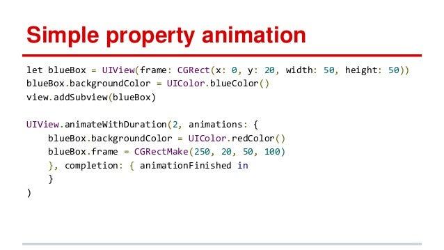 Animations & swift