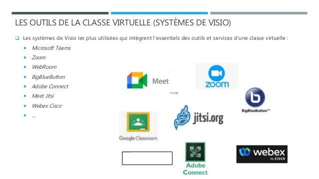 LES OUTILS DE LA CLASSE VIRTUELLE (SYSTÈMES DE VISIO)  Les systèmes de Visio les plus utilisées qui intègrent l'essentiel...