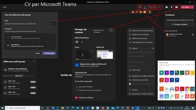 CV par Microsoft Teams