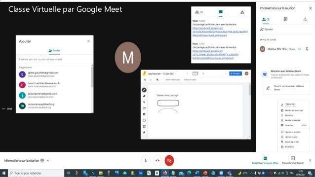 Classe Virtuelle par Google Meet