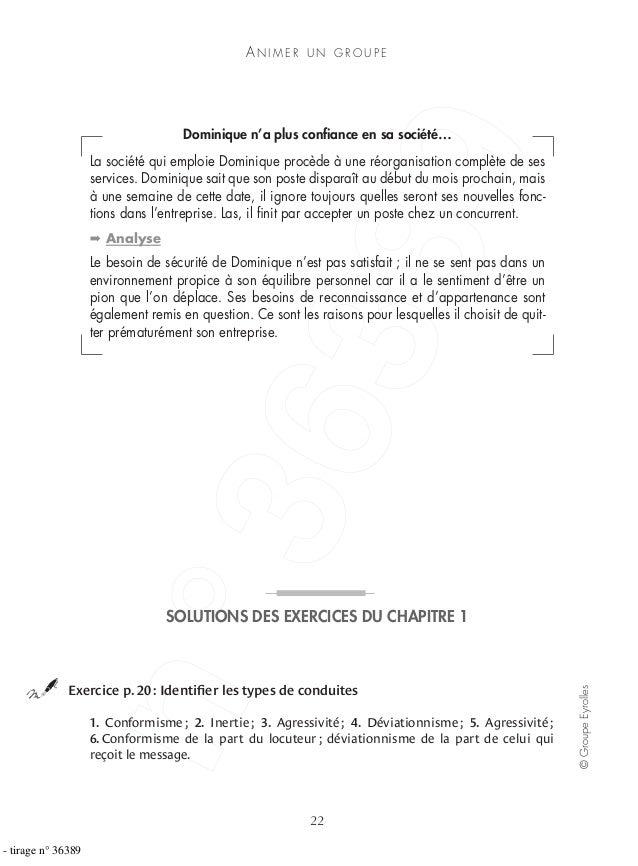 AN I M E R U N G R O U P E 22 ©GroupeEyrolles Dominique n'a plus confiance en sa société… La société qui emploie Dominique ...