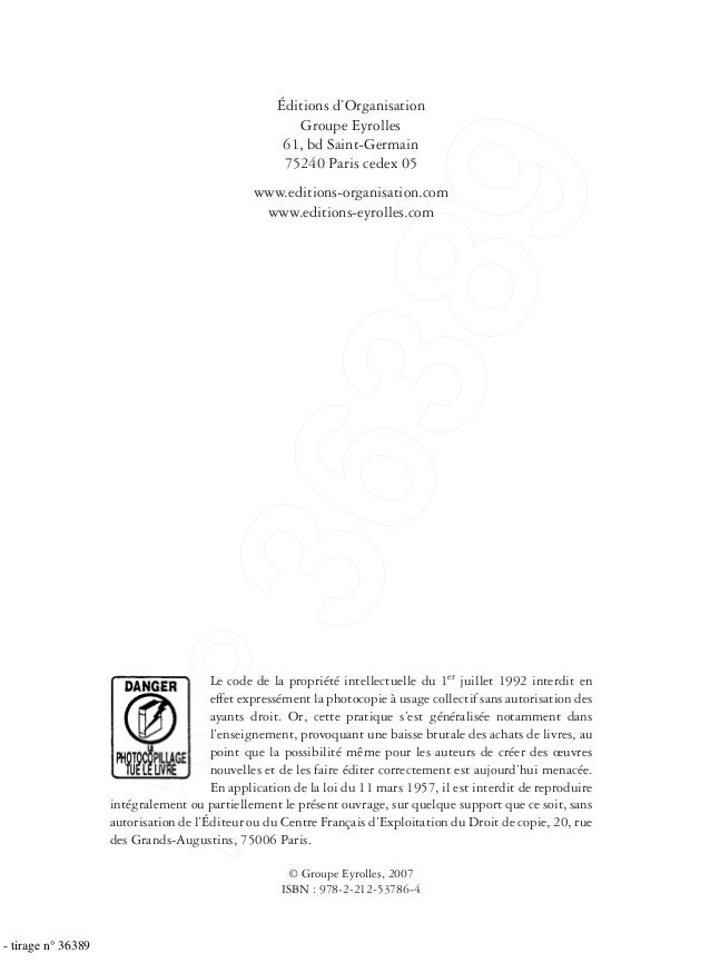 Le code de la propriété intellectuelle du 1er juillet 1992 interdit en effet expressément la photocopie à usage collectif ...