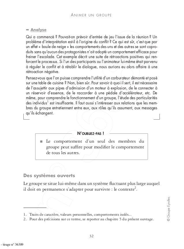 AN I M E R U N G R O U P E 32 ©GroupeEyrolles ➡ Analyse Qui a commencé ? Pouvait-on prévoir d'entrée de jeu l'issue de la ...