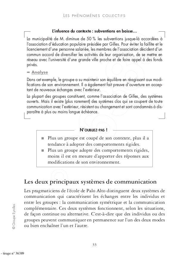 ©GroupeEyrolles 33 LE S P H É N O M È N E S C O L L E C T I F S L'infuence du contexte : subventions en baisse… La municip...
