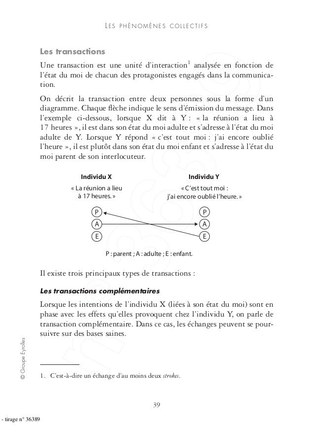 ©GroupeEyrolles 39 LE S P H É N O M È N E S C O L L E C T I F S Les transactions Une transaction est une unité d'interacti...