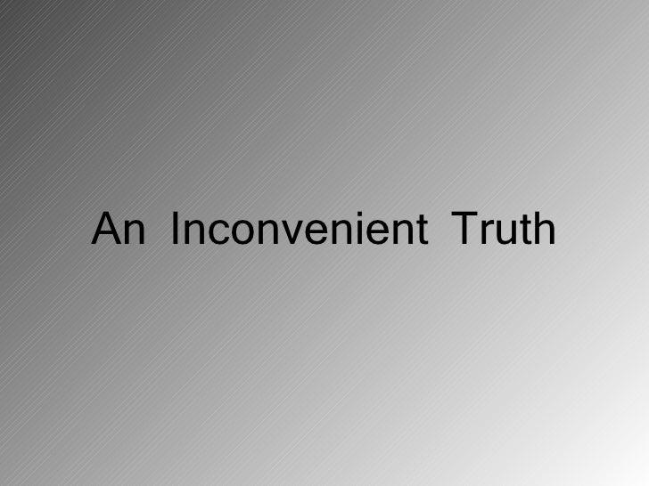 An inconvenient truth presentation