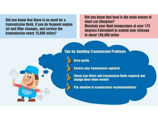 """An infographic on """"DO's and Don'ts in Auto Transmission"""" Slide 3"""