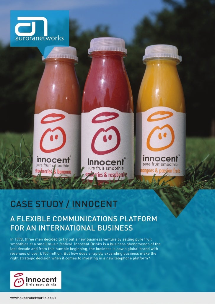 CASE STUDY / INNOCENTA FLEXIBLE COMMUNICATIONS PLATFORMFOR AN INTERNATIONAL BUSINESSIn 1998, three men decided to try out ...