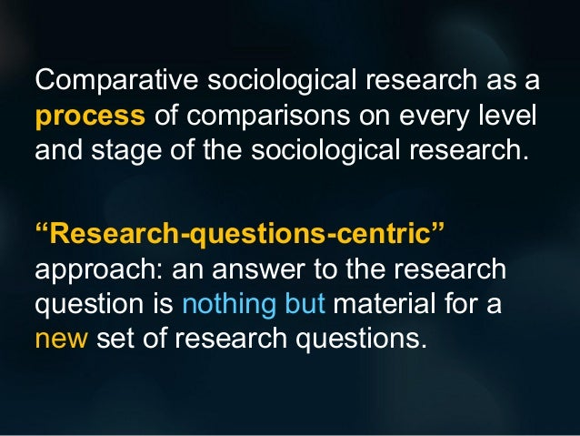 sociology the comparative method In comparative methods in sociology 141-202 (berkeley 1971) ivan vallier, ed   comparative law method involves something special is strengthened by.