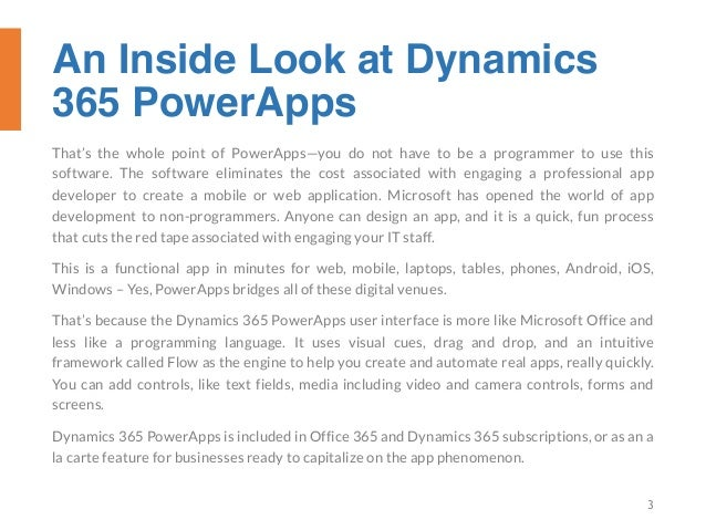 An Inside Look at Dynamics 365 Power Apps