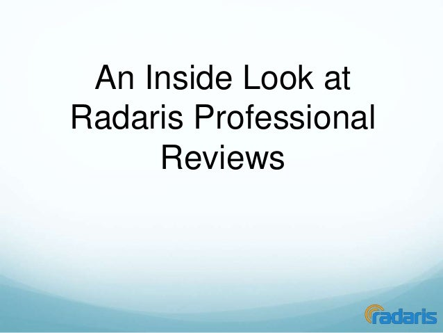 An Inside Look at  Radaris Professional  Reviews