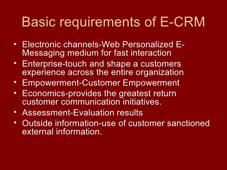 An Insight Into E- CRM