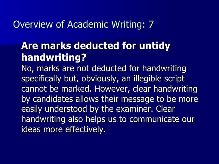 untidy handwriting