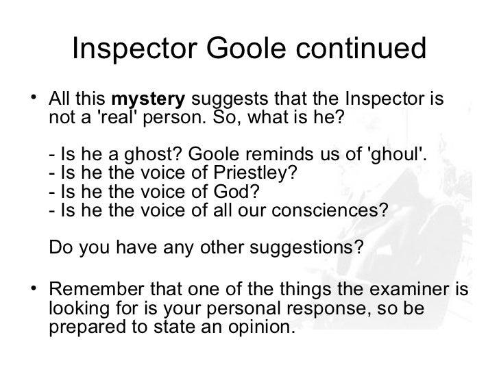 inspector goole 2 essay
