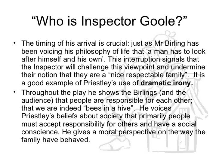 How does the arrival of inspector