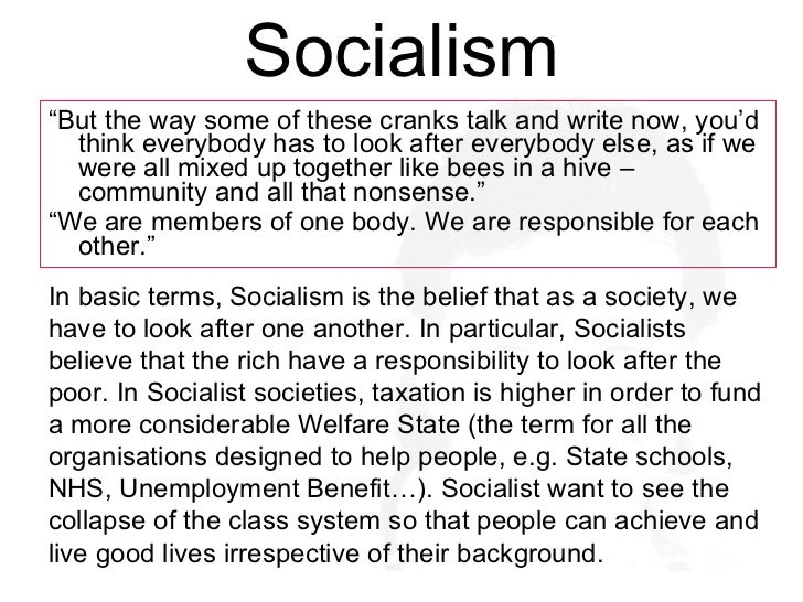Intimidatingly definition of socialism