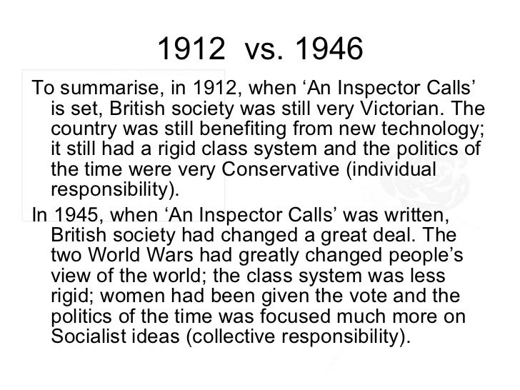 essay on responsibility in an inspector calls From 'an inspector calls', focusing on the differing responses of the two generations to the 'experience of being blamed for eva smith's death' but without.