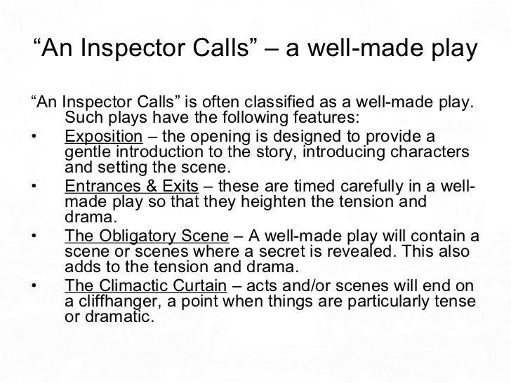 an inspector calls tension in the Through the course of this essay i will discuss how jb priestly portrays tension at the heart of the birling family in an inspector calls first of all.