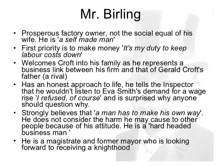 comparing inspector goole and authur birling essay