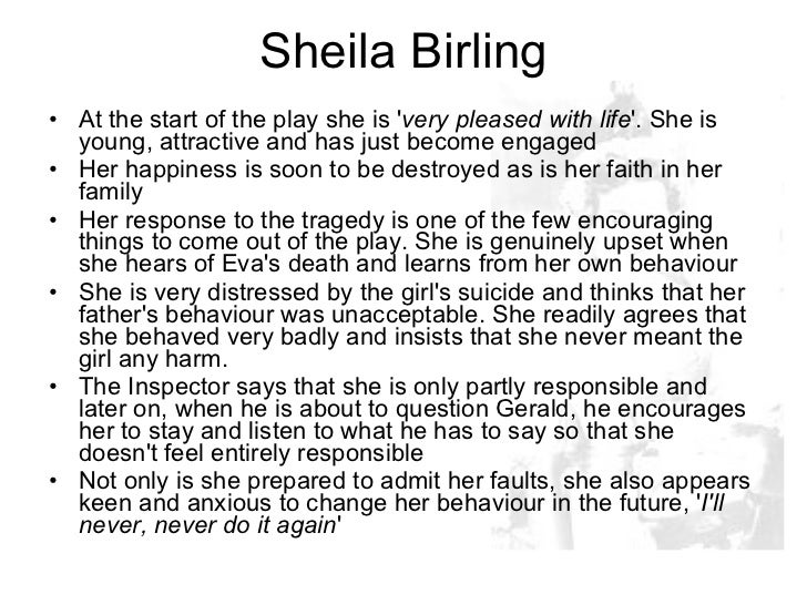 An Inspector calls – Sheila and Mr Birling
