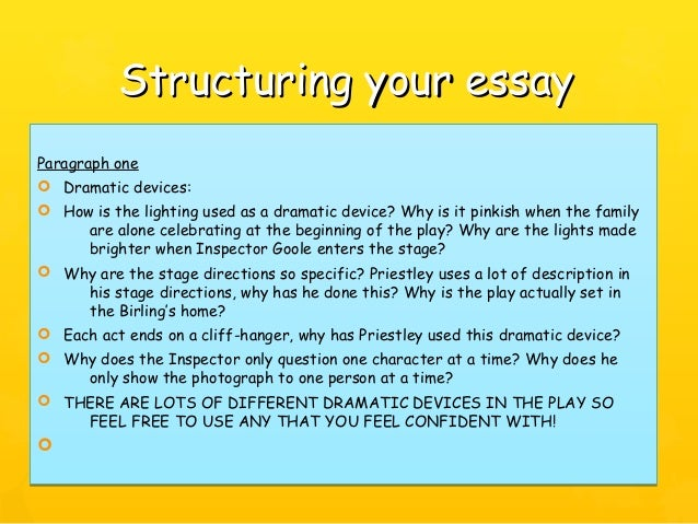an inspector calls revision 25 structuring your essaystructuring your essay
