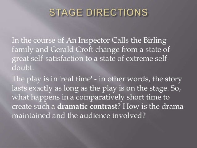 Inspector calls essay dramatic devices