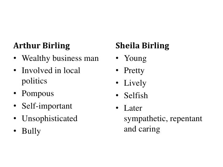 essay on sheila birling in an inspector calls
