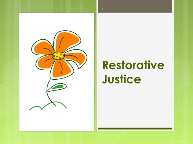 Restorative Justice and Corrections