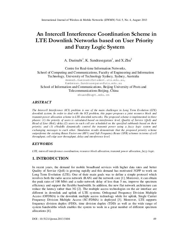 International Journal of Wireless & Mobile Networks (IJWMN) Vol. 5, No. 4, August 2013 DOI : 10.5121/ijwmn.2013.5404 49 An...