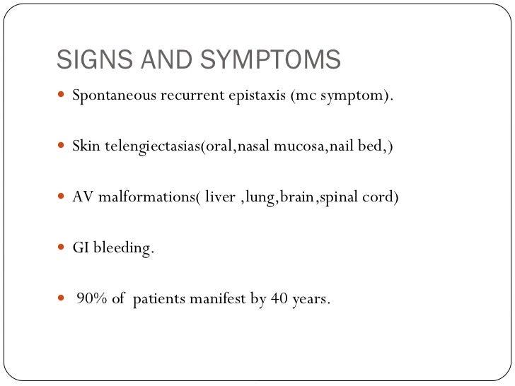A Case of Osler-Rendu-Weber syndrome
